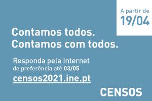 Contamos com todos nos Censos 2021